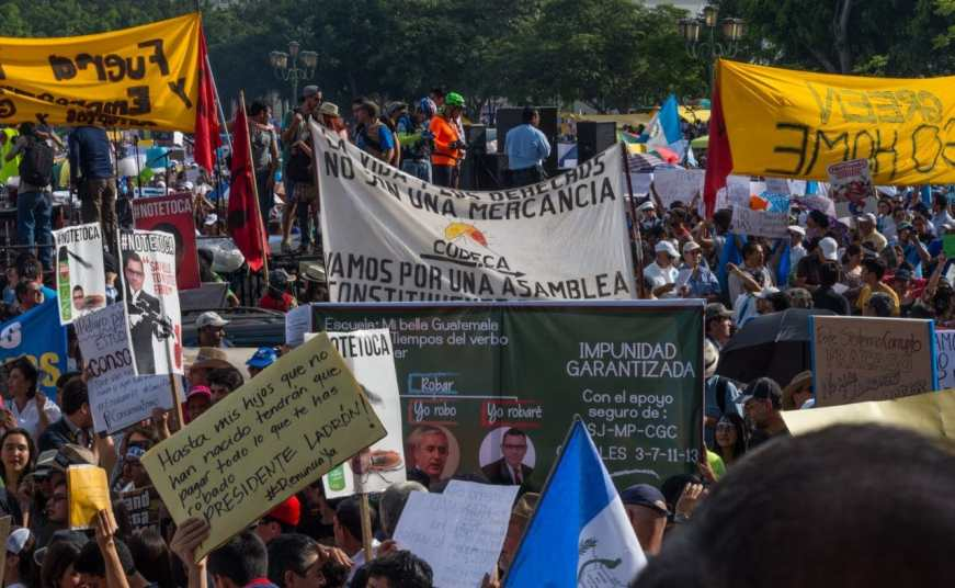 Demonstration against corruption in Guatemala on May 30, 2015. Photo by Eric Walter / Wikimedia Commons