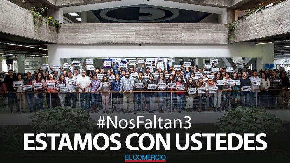 #NosFaltan3 - El Comercio