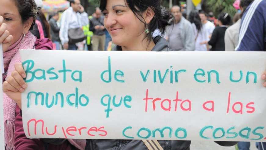 Manifestación contra la violencia machista en Bogotá