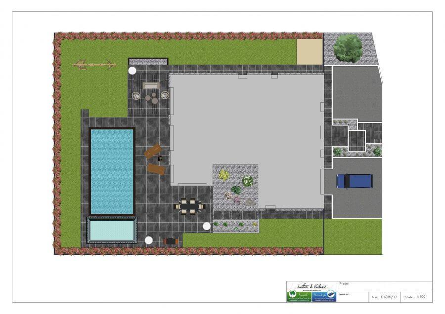 Plan 2D paysagiste Jardicad