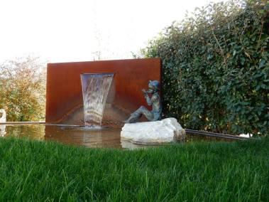 Fontaine en Corten