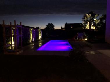 piscine eclairé collombey valais