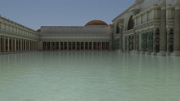 As eran las espectaculares Termas de Trajano el gran spa