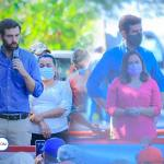 El Princeso Wright Sol acompaño al FMLN en su mega manifestación contra el Presidente Bukele