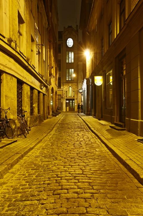Bild: Nächtliche Impressionen aus Riga - der Hauptstadt Lettlands.