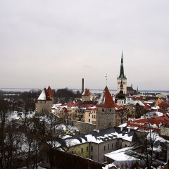 Bild: Blick vom Toompea suf die Unterstadt von Tallinn.