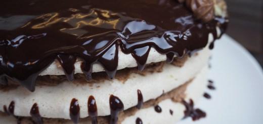 Latvian hazelnut meringue chocolate cake