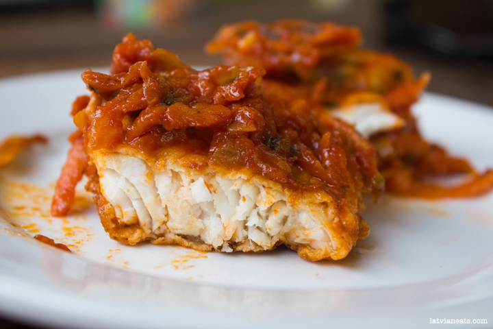 Fish in Carrot and Tomato Sauce