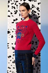 pull tiger rouge kenzo