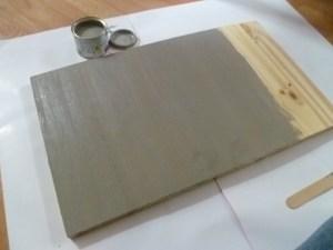 début de la peinture de la planche