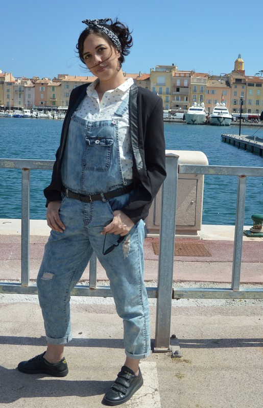 Top Look rétro, denim et Stan Smith, à St Tropez | L'atypique blog EE71