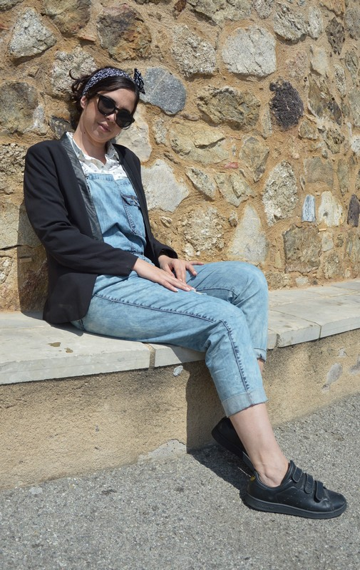 salopette denim boyish OOTD look printemps 2015