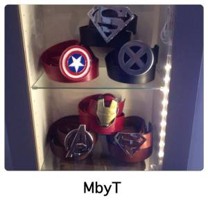 ceinture cuir super héros MbyT