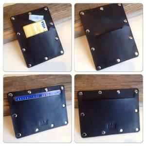 portefeuille porte cartes cuir rivets MbyT