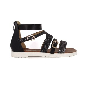 sandales paillettes serpent semelle blanche crantée  éclispe chaussures