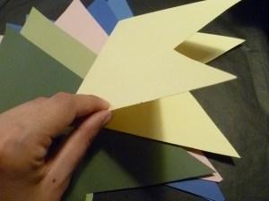 fanions guirlande papier deux pointes diy