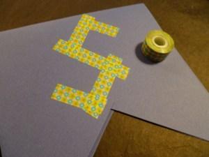 masking tape guirlande papier personnalisée diy