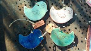oiseaux à suspendre piou céramique déco les pots de vanille
