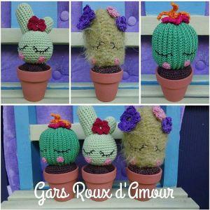 cactus crochet création les gars roux d'amour