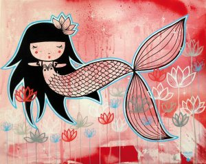 illustration dessin sirène madammag illustratrice