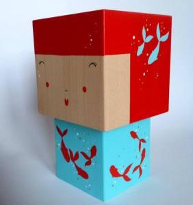 poupée japonaise cubes bois madammag créatrice
