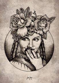 illustration-jeanjean-noir-blanc-tattoo-crane