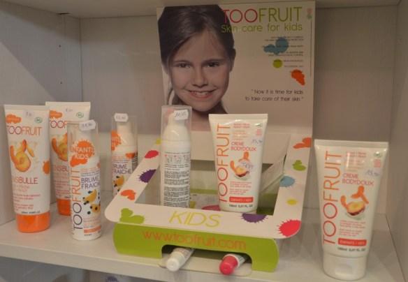 Des cosmétiques pour enfants par too fruit à retrouver chez l'échappée belle à Toulon au Mourillon