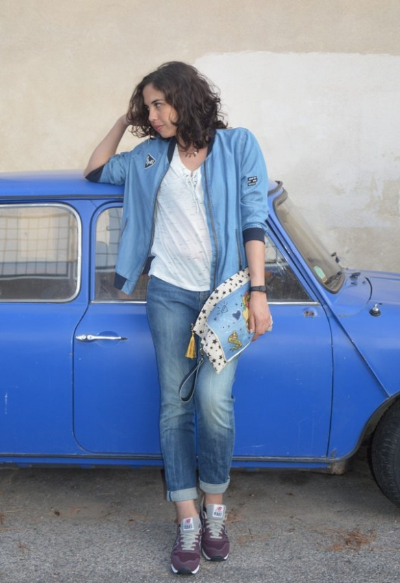 look-mode-outfit-ootd-rentree-blouson-jean-patch-lacet-zara-pimkie