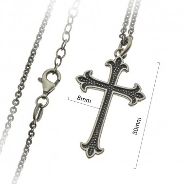 St.Thomas cross pendant necklace in Sterling silver 925 CAR585