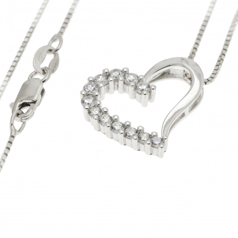 Pendant necklace with heart in Sterling silver 925 CU004