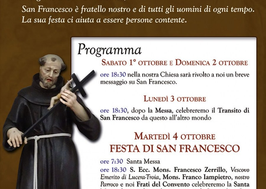 Festa di San Francesco d'Assisi 2016