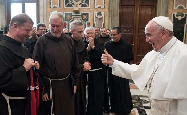 """l Papa ai francescani: """"Siate minori con Dio, con i fratelli e con il creato"""""""
