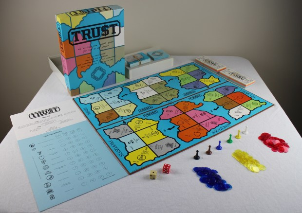 TRUST Board Game with Pieces & Papers