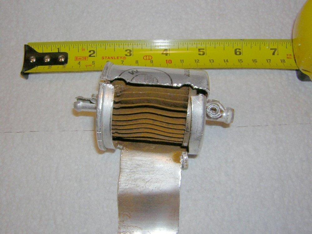 medium resolution of fuel filter exposed
