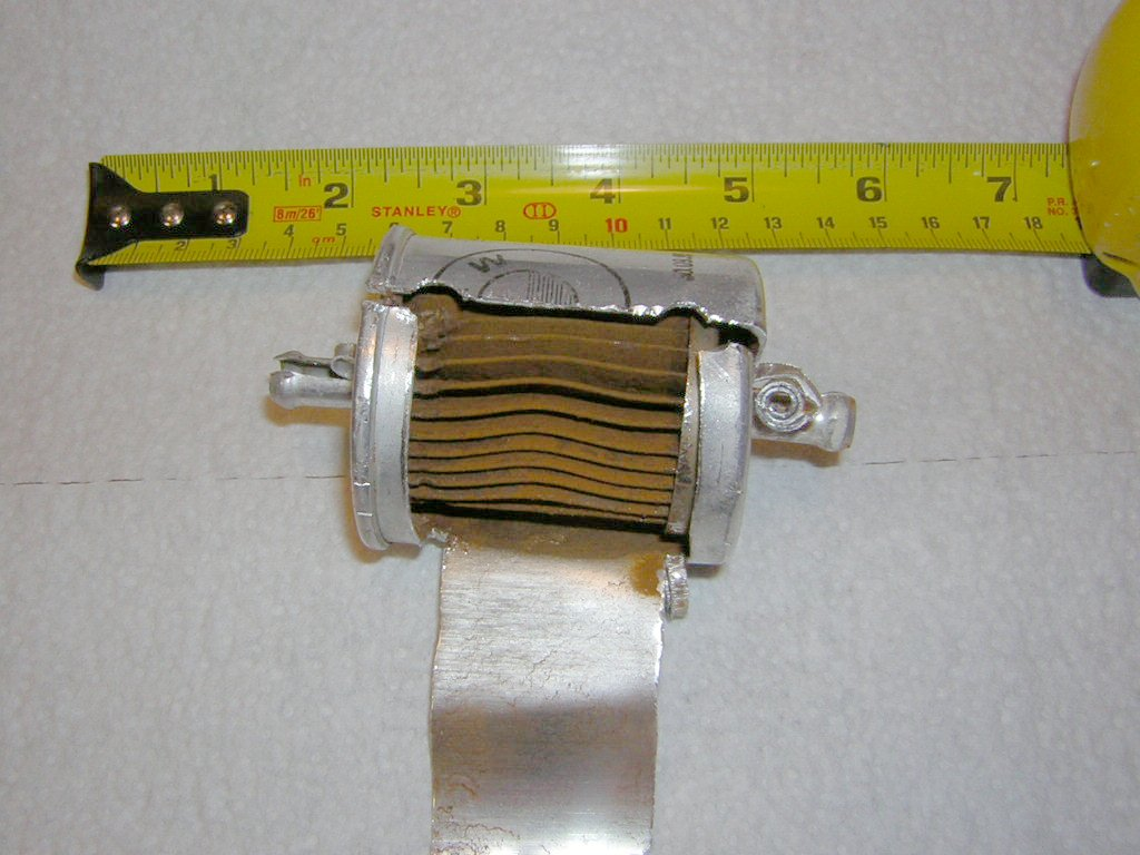 hight resolution of fuel filter exposed