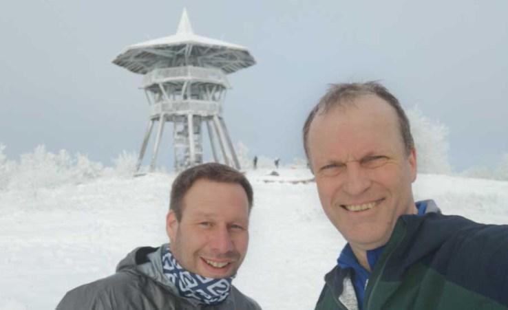 Jens und ich an der preußischen Velmerstot