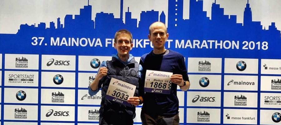 Frankfurt Marathon 2018 laufen hilft runtheskyline Wettkampf Bericht mit Bestzeit
