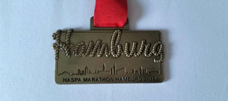 Die Medaille des haspa Hamburg Marathon 2019