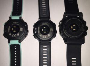 links: FR235; mitte: FR735XT; rechts: fēnix3 HR