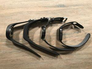 Größenvergleich (von links nach rechts): Polar M200, Polar M600, Garmin Forerunner 735XT, Apple Watch 2
