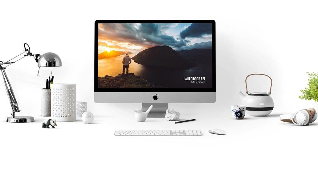 Monitor med foto