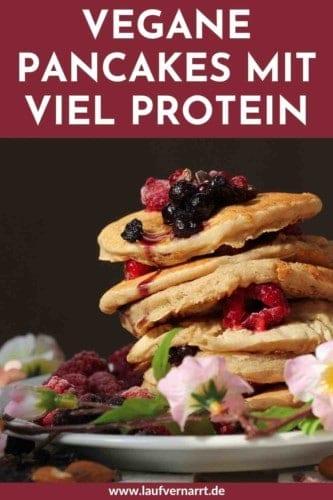 Vegane Protein-Pancakes mit extra viel Protein. Hier kommt ein leckeres Rezept für proteinreiche Pfannkuchen. Glutenfrei, laktosefrei, nussfrei und gesund.