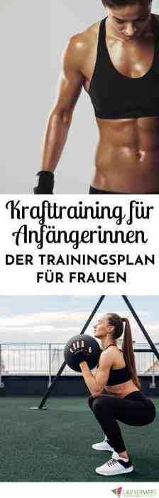 #Krafttraining für #Frauen - der #Trainingsplan für #Anfänger im funktionellen Krafttraining. Mit diesem Plan findest du den perfekten Einstieg in dein #Fitnesstraining für Muskelaufbau, #Definieren und Athletik.