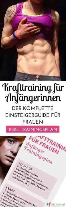 #Krafttraining für #Frauen - der #Trainingsplan für #Anfänger im funktionellen Krafttraining. Mit diesem Plan findest du den perfekten Einstieg in dein Fitnesstraining für #Muskelaufbau, Definition und Athletik.