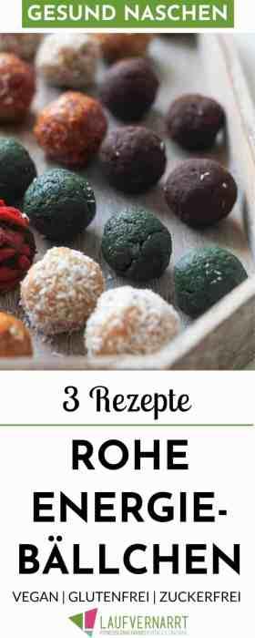 Bist du auf der Suche nach gesunden Süßigkeiten, die dich auch noch satt machen? Mit diesen 3 Rezepten für Raw Bites erhältst du 9 leckere Varianten für gesundes Naschen ohne Reue. #gesund #abnehmen #gesundnaschen #veganerezepte #abnehmrezepte