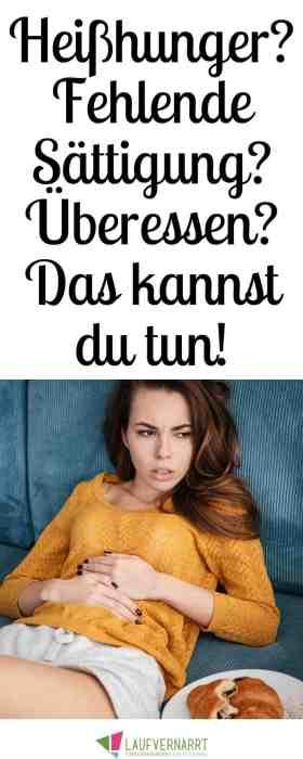 Leidest du an Überessen und ausbleibender Sättigung? Kommt vielleicht sogar Heißhunger dazu? Dann bekommst du hier die besten Tipps, wie du schneller satt wirst und dich nicht mehr überisst. #satt #heißhunger #sättigung #bingeeating #essanfall