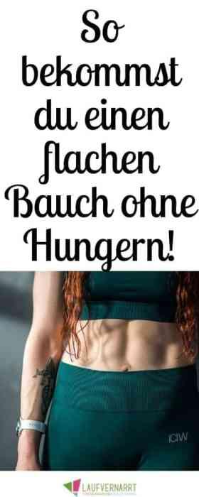 Diät und Übungen für flachen Bauch
