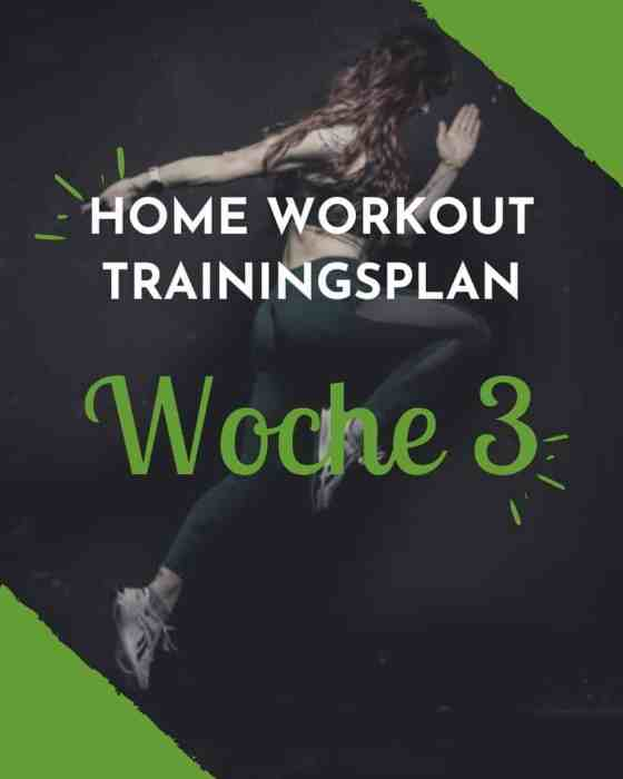 #STAYATHOME Trainingsplan Woche 3 - Dein Krafttraining für Zuhause