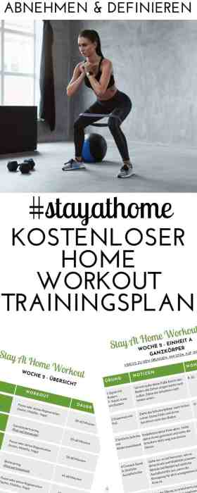 Der #STAYATHOME Trainingsplan für Zuhause geht in Woche 3 - so bringt du dein Home Workout auf ein neues LEvel! #krafttraining #homeworkout #fitnesstraining #fitnessübungen