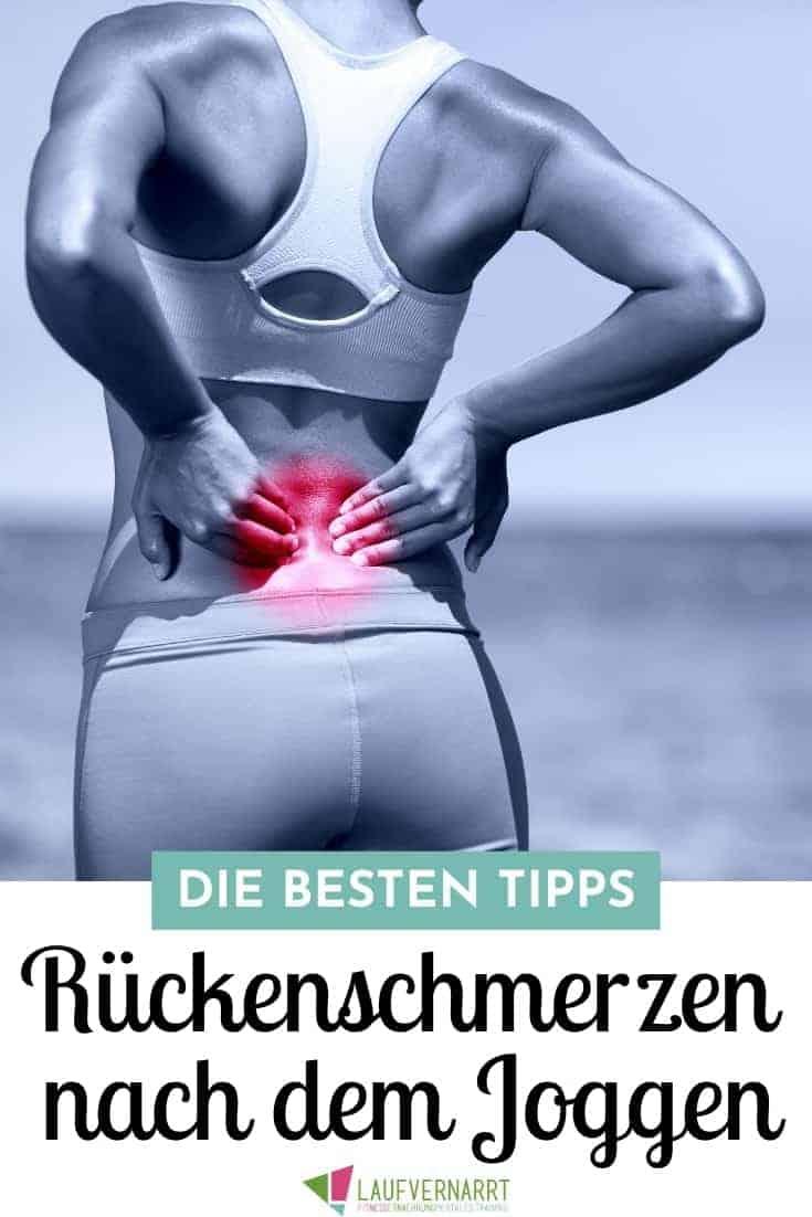 #Rückenschmerzen nach dem #Joggen sind schmerzhaft und unangenehm. Hier zeige ich dir die besten Tipps und #Übungen gegen Rückenschmerzen beim #Laufen! #Fitnessübungen